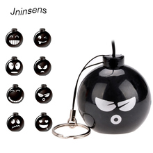Cute Portable Mini Speaker Bomb MP3 Audio Music Mobile phone 3.5mm Jack Sound Box Amplifier Computer Wholesale(China)