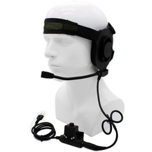 XQF HD01 Z Tactical Bowman Elite II Headset with U94 PTT for Yaesu Vertex Cobra Icom IC-V8 IC-V82 IC-V85 IC-F21 CB Two War Radio