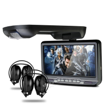 "9"" Car Roof Mounted DVD Player Flip Down Monitor With Game Function Overhead Radio Stereo Ceiling With 2 PCS Headphones For Free"