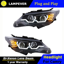 Lampever Styling for Toyota Camry Headlights New Camry V55 LED Headlight DRL Bi Xenon Lens High Low Beam Parking Fog Lamp