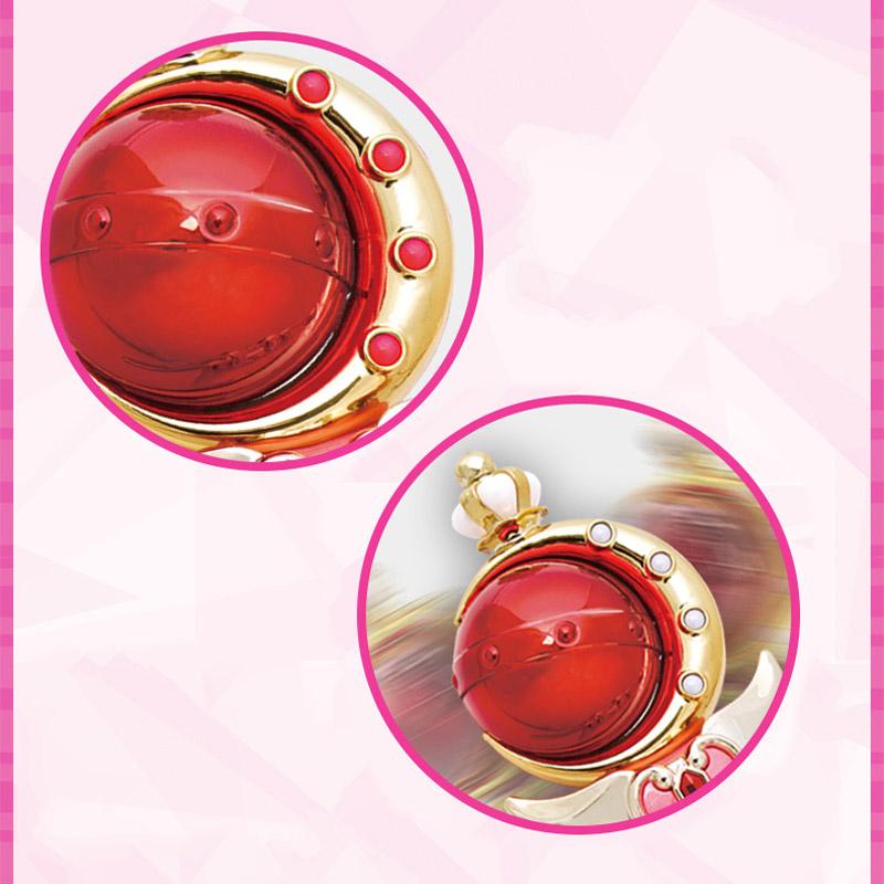 Anime Cosplay Sailor Moon 20th Tsukino Usagi Wand Henshin Rod Glow Stick Spiral Heart Moon Rod Musical Magic Wand Girl Toys (5)