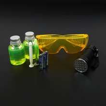 Air Conditioning A/C System Leak Test Detector Kit Flashlight Protective Glasses UV Dye Tool Set(China)