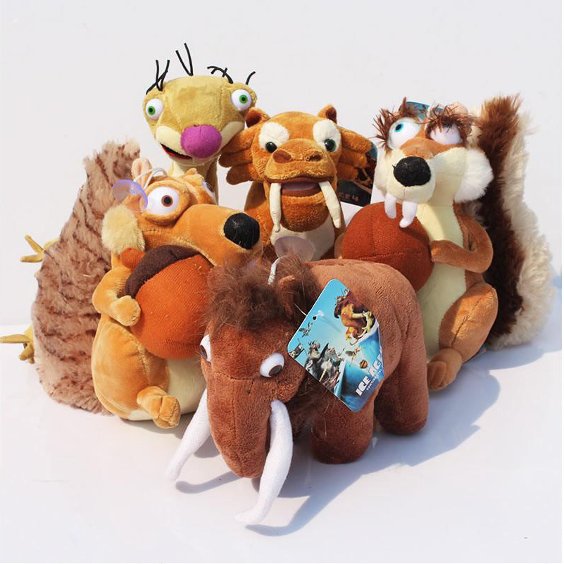 5Pcs /set Ice Age Elephant, bradypod,Squirrels,Tiger plush toy Ice Age 4 plush toy doll For Baby Christmas Gifts Free shipping<br><br>Aliexpress