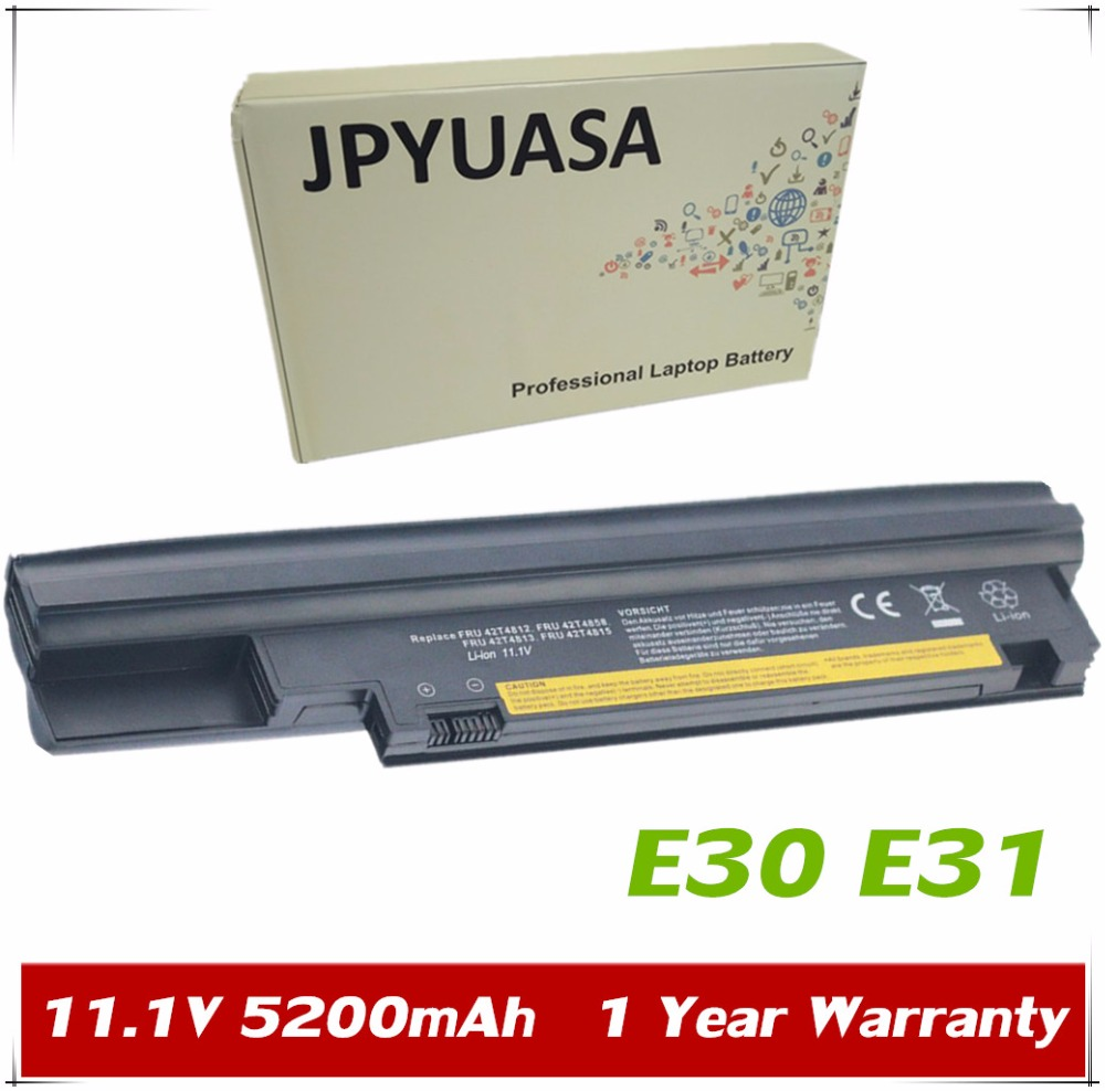 "JPYUASA 11.1V 5200mAh Battery 42T4812 42T4813 42T4815 42T4858 For Lenovo ThinkPad Edge 13"" E30 E31 57Y4565"
