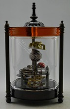 Collectible Decorated Old Handwork Copper Frog Ladybird Mechanical Table Clock