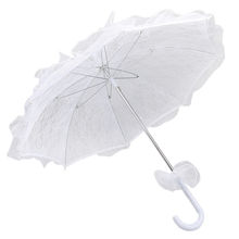 New Hot Lace Parasol Flower Girls Bridal Wedding Party Sun Umbrella Photography Prop Decoration Supplies Wedding Women Favor