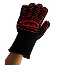 1 Pair Heat Resistant Oven Microwave Gloves Burn Heat Proof Hand Protection Cooking Baking  BBQ Grilling Mitts .