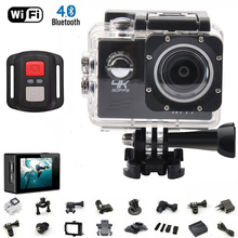 Original Ultra HD 4K remote Action Camera 2.0' inch WiFi 1080P/60fps 170D lens Helmet Cam go pro waterproof mini camera