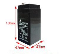 Storage Batteries 4V 4AH rechargeable lead acid battery storage battery small toy car battery 47x47x100mm free shipping(China)