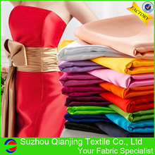 Newly 125 Colors Polyester Spandex Two Way Stretch Satin Fabric(China)