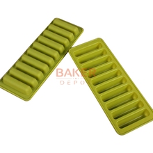 candy silicone bakeware tools 10 lattices clavate chocolate mold ice cube tray thumb biscuit mold  SICM-215-6