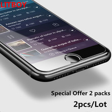 Buy 2pcs/Lot Film Protective Tempered Glass iPhone 7 6 6s 5 5s 4 Plus Samsung Galaxy S7 S4 S5 S6 Note 3 4 5 Screen Protector for $1.42 in AliExpress store