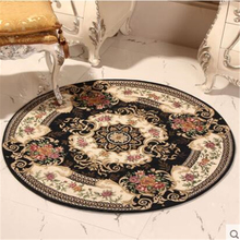 beibehang High-grade European circular carpet swivel chair computer chair home dining carpet living room coffee table blanket(China)