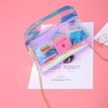 Fashion Handbag Women Laser Shoulder Bag Cylinder Colorful School Kids Teenager Messenger Totes Transparent Crossbody Small Flap(China)