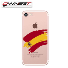 OWNEST phone cases England Spain Italy France Germany Fans painted clear soft silicon TPU cover for iphone 7 7 plus 6 6S 5 5S SE