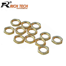 50pcs/lot High Quality Gold Plated SMA Screw Nut for SMA RF Coaxial Connector Wholesale Brand New(China)