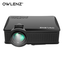 OWLENZ 2017 Newest 1500 Lumens SD50 Plus Mini Portable LCD Projector HDMI VGA AV Home Theater Beamer LED Proyector HD Video(China)
