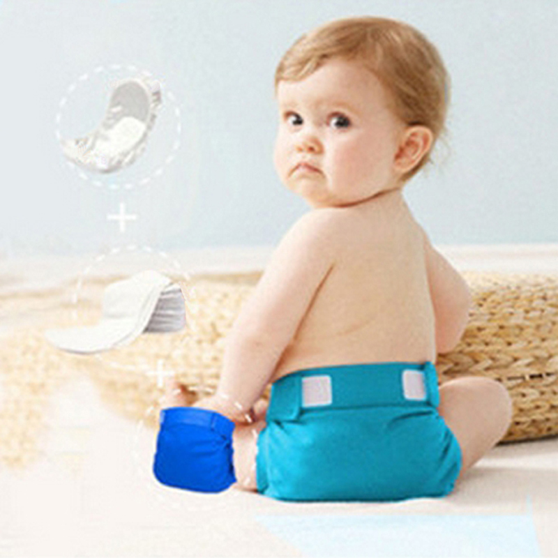 Diaper Pouch Reusable Washable Diaper Nappy Pouch for Baby Toddler Kids