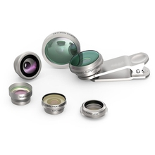 New 8 In 1 Universal Cellphone Mobile Phone Camera Lens Fisheye Wide Angle Macro Len Clip On Phone Lens For Iphone 6 7