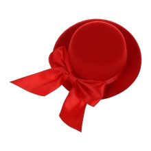 New  Ladies Mini Top Hat Fascinator Burlesque Millinery w/ Bowknot - Red