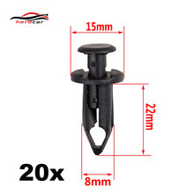 In Stock New 20x For Suzuki KingQuad Vinson Eiger Ozark ATV Fender Clips CLIP-04-8MM(China)