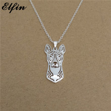 Elfin 2018 Trendy Basenji Necklace Gold Color Silver Color Dog Jewellery Congo Dog Pendant Necklace Women steampunk(China)