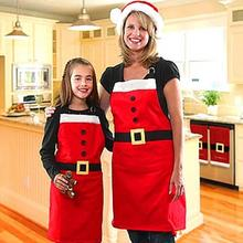 Hot New Christmas Pattern Apron Christmas Kitchen Bar Home Child Adult Red Cooking Party Aprons Christmas Decor