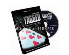 Free Shipping Tagged by Richard Sanders (DVD and Gimmick)-Magic Trick,Accessories,fire,mentalism,stage,close up,comedy(China)