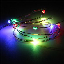 1M 10 LED Battery Power Operated Multicolor Copper Cable Wire Fairy LED String Light Party Wedding Decor Lamp Waterproof