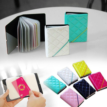 New Fashion Women Credit Card Holder/Case card holder Wallet Candy Color Diamond Texture Business Cards Bag ID Holders P5