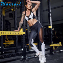 Durable 2017 Women Black Print Workout Fitness Legging Pants Slim Jeggings Wicking Force Exercise Clothes Ropa Muje