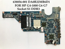 High quality laptop motherboard for HP Pavilion G4-1000 G6 G7 6638856-001 DA0R22MB6D1 Socket S1 DDR3 100% Fully Tested(China)
