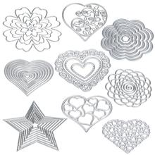 New Big Shot Flower Heart Metal Cutting Dies Stencils DIY Scrapbooking Album Paper Card Craft Machine Die Cut Sizzix Silver Hot