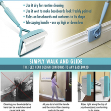Drop shipping 2017 New Baseboard Buddy Simply Glide Extendable Microfiber Cleaning Product Supply(China)
