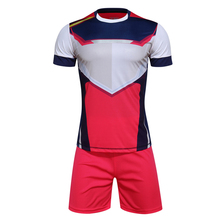 High quality Soccer training suit football uniform jersey & shorts men tracksuit Sportswear customized name and number