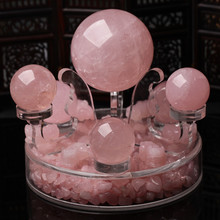 Medallion authentic Brazilian natural rose crystal ball dipper array the mythical wild animal