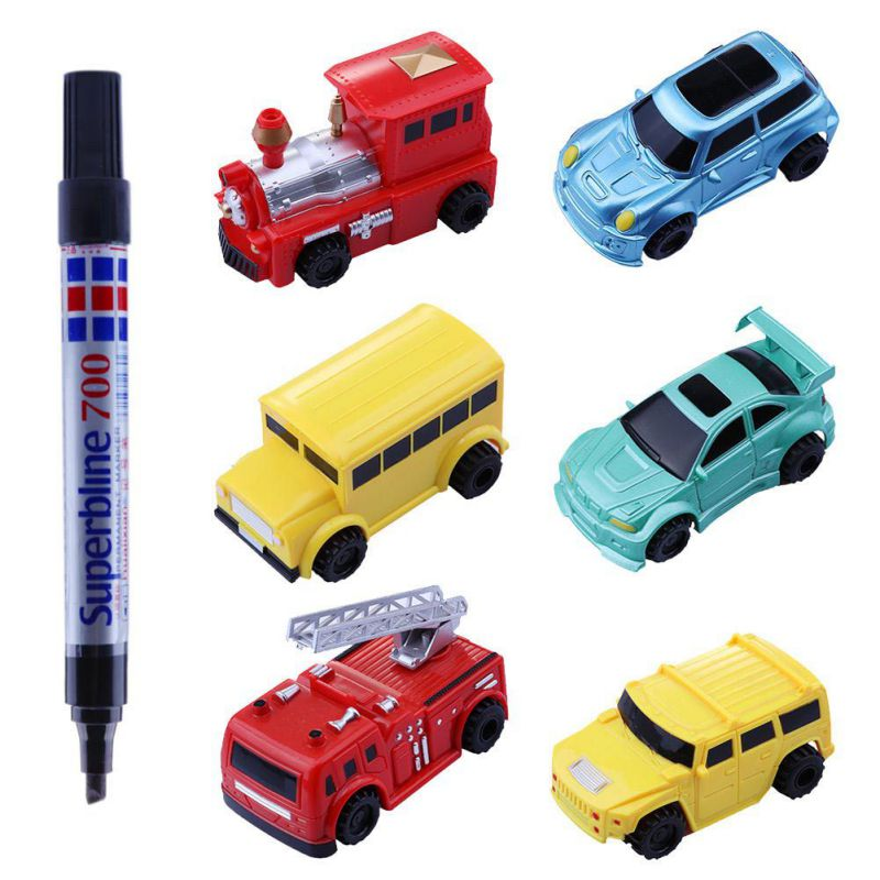 1pcs Mini Magic Pen Inductive Toy Car Model Series Puzzle Follow Any Line You Draw Toys For Children Boys Kids Birthday Gift 13