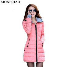 Buy Warm Winter Jackets Women Fashion Cotton Parkas Casual Hooded Long Winter Coat Women Thick Zipper Slim Fit Plus Size Parka for $27.18 in AliExpress store