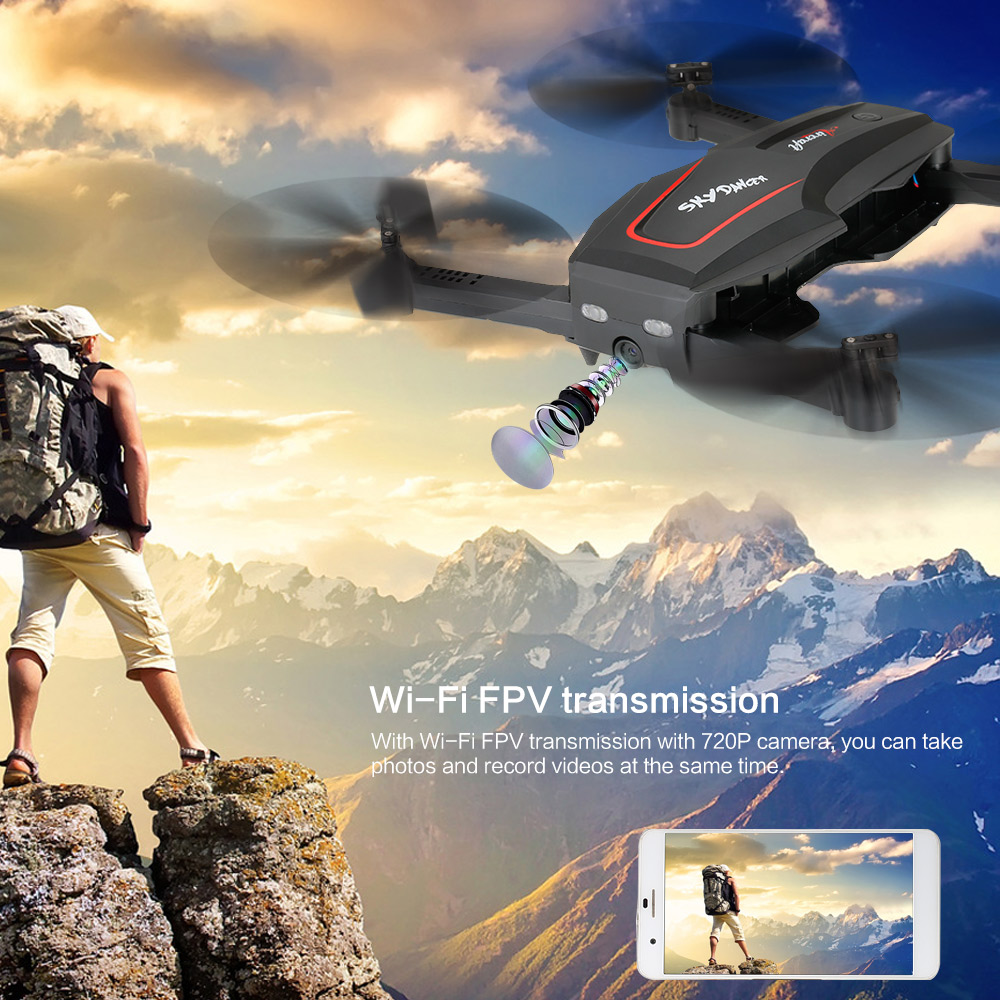 WL Tech Q626-B Wi-Fi FPV 720P RC Drone with Camera HD Selfie Drone Altitude Hold RC Quadcopter RTF Helicopter Dron Machine (7)