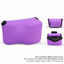 OC-S1PE Purple Mirrorless Camera Pouch Case for Canon SX400 IS/SX410 IS/SX420 IS/SX510 HS, Nikon P7800/DL18-50, LX100