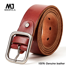 Buy MEDYLA Hot Stylish Cowhide Belts Men Upper Genuine Leather Belt Fashion Designer Strap Wedding Belts Men Jeans Waistband for $15.90 in AliExpress store