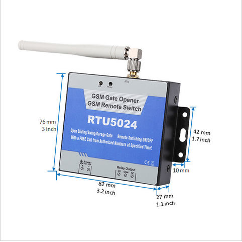 GSM Garage Gate Opener RTU5024 Authorized 200 users Multiple applications(bollards/ barriers/shutters /access doors or machines)<br>