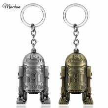 MQCHUN 3D Star Wars Robot R2D2 Pendants keychain Metal Keyring Men Boys Gift Star Wars Character Car Key Chain chaveiros llavero(China)