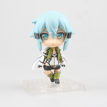 "Stock sale Cute Nendoroid Sword Art Online II Asada shino #452 PVC Action Figure Collection Model Toy 4"" 10CM Free shipping(China)"