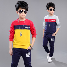 Children's Clothes The Boy In The Spring and Autumn Outfit Suits The New Boy Children Sports Sets 4-14 Ages Free Shipping(China)