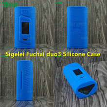 50pcs Fast DHL ship Newest Silicone Protective Case Cover Skin of Sigelei Fuchai Duo 3 175 Watts USB TC Mod soft touch feelings(China)