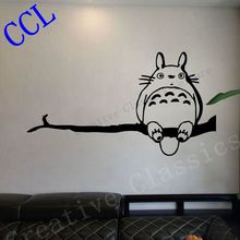 Free shipping Ghibli Totoro My Neighbor Totoro Inspired Wall Decal, Tortoro Decal Sticker, Anime Wall Art P2061(China)