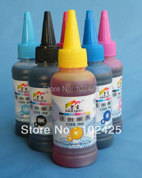 5*100ML Water Based Dye ink for HP 364  364XL for HP photosmart D5400 D7500 B109 B110 C5300 C6300<br><br>Aliexpress