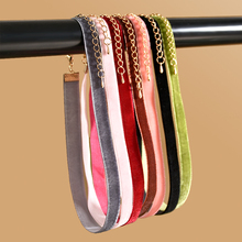 Punk New Fashion 7 Pcs/pack Colorful Velvet strip Choker Necklace Retro Gothic Collar Necklace For Women Girls Free shipping(China)