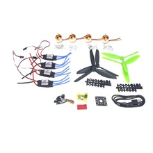 F02047-D DIY 4 Axle Mini Drone Helicopter Parts ARF Kit: Brushless Motor 30A ESC CC3D Controller Board Flight Controller(China)
